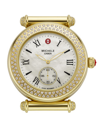 Caber Diamond-Bezel Watch