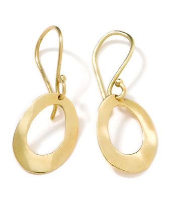Squiggle Oval Earrings