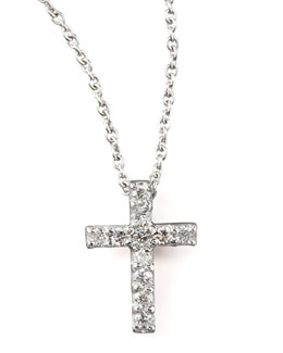 Roberto Coin Pave Diamond Cross Necklace