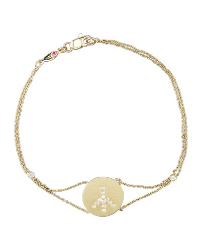 Roberto Coin Exclusive Pave Peace Medallion Bracelet