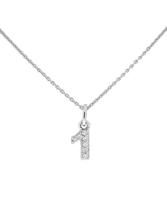 Diamond Number Necklaces