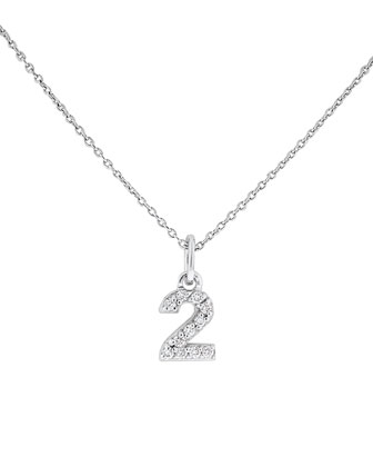 Diamond Number Necklace,