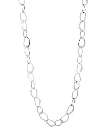 Sculptural Wavy Link Necklace, 36