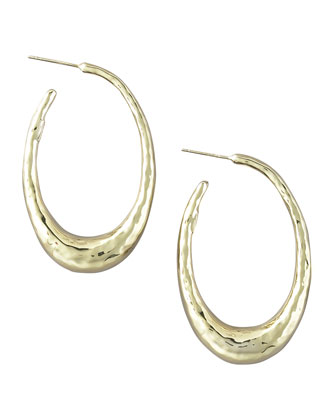 Glamazon Oval Hoop Earrings, Small