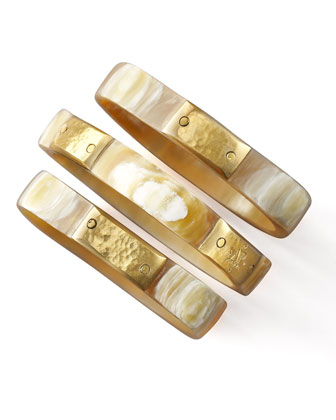 Square Light Horn Bangles