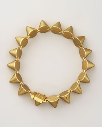 Small Cone Bracelet, Yellow Gold