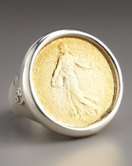 Dominique Cohen Goddess Coin Ring