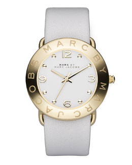 MARC by Marc Jacobs Round Watch, White