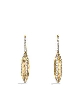 Lantana Drop Earrings with Diamonds in Gold