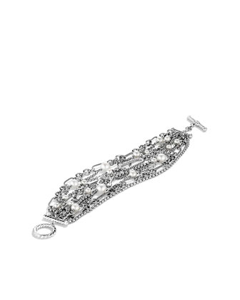Nine-Row Chain Bracelet with Pearls