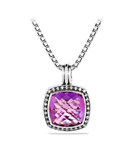 David Yurman Moonlight Ice Albion Enhancer, Amethyst, 17mm