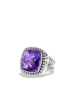 David Yurman Moonlight Ice Ring, Amethyst, 17mm