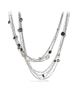 David Yurman Bijoux Multi Row Necklace, Black Onyx, 42""