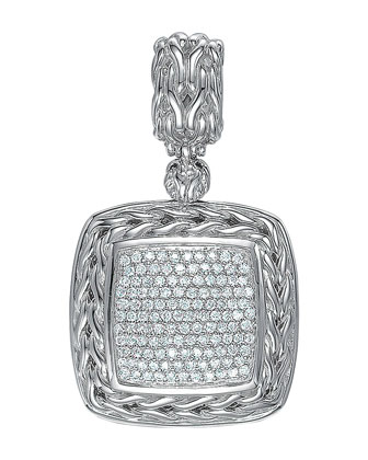 Square Pave Diamond Pendant