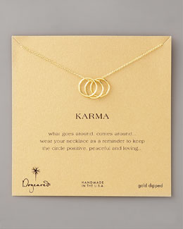 Dogeared Three-Ring Karma Necklace