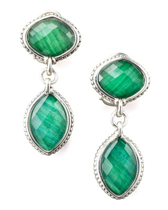 Malachite Doublet Drop Earrings