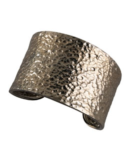 Nest Hammered Gunmetal Cuff