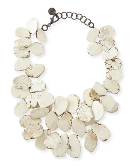 Nest Clustered Howlite Necklace