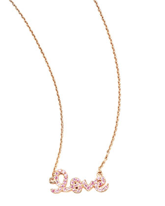 Pink Sapphire Love Necklace