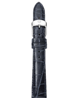 Michele 16mm Alligator Strap, Navy