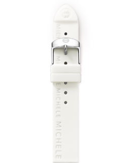 Michele 16mm Silicon Strap, White