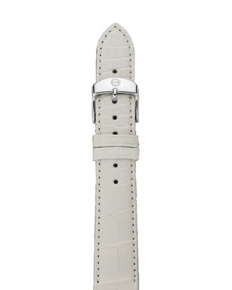 16mm Alligator Strap, White