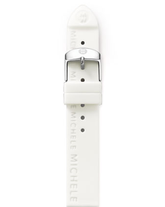 20mm Silicon Strap, White