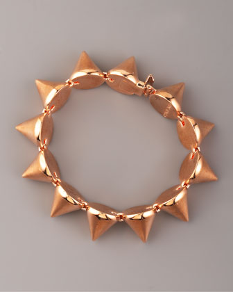 Large Rose Gold Cone Bracelet