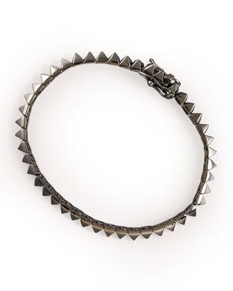 Gunmetal Pyramid Tennis Bracelet