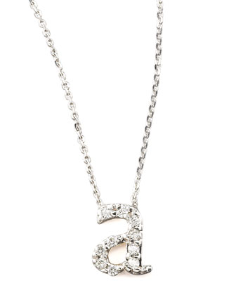 Diamond Letter Necklace, A