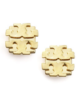 Tory Burch Logo Earrings, Large