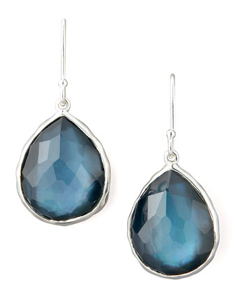 Teardrop Earrings, Blue