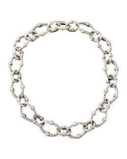 Armenta Pave Diamond-Link Necklace, Large