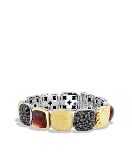 David Yurman Chiclet Bracelet, Garnet