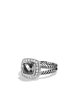 David Yurman Petite Albion Cushion RIng, Hematite
