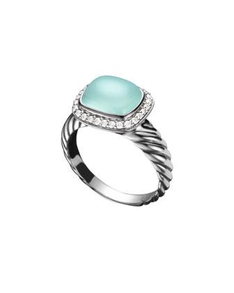 Noblesse Ring, Aqua Chalcedony