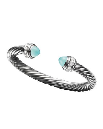 David Yurman Cable Classics Bracelet, Aqua Chalcedony