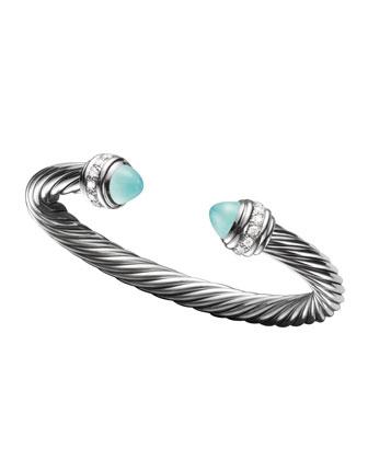 Cable Classics Bracelet, Aqua Chalcedony