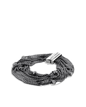 Sixteen-Row Chain Bracelet with Diamonds