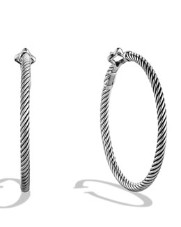 David Yurman Thoroughbred Hoop Earrings