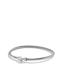 David Yurman Cable Collectibles Bracelet, Pave Diamond, 3mm