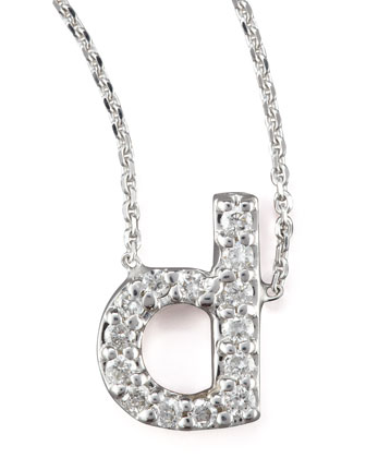 Diamond Letter Necklace, D