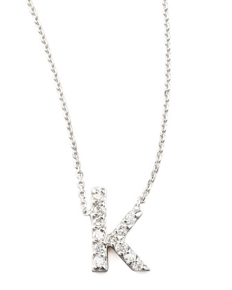 Diamond Letter Necklace, K