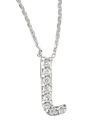 Diamond Letter Necklace, L