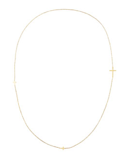 "Jennifer Zeuner Integrated Cross Necklace, 36""L"