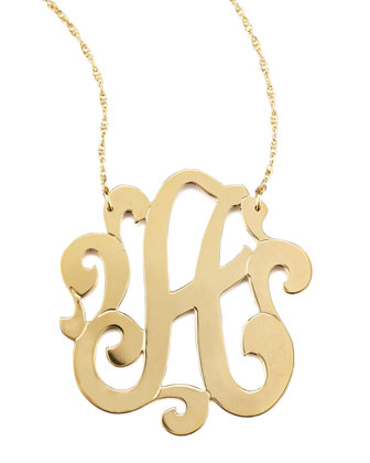 Swirly Initial Necklace, A
