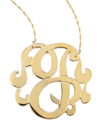 Swirly Initial Necklace, J