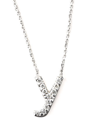 Diamond Letter Necklace, Y