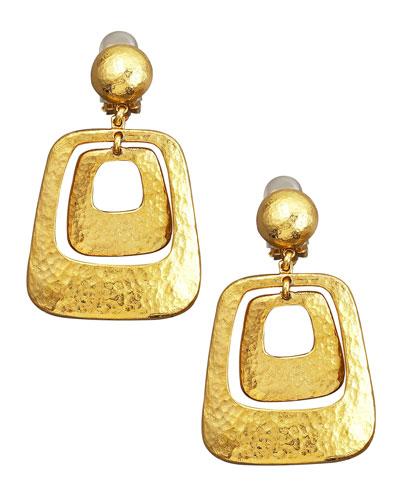 Jose & Maria Barrera Hammered Earrings