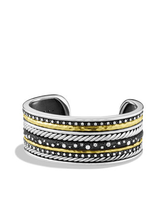 Midnight M??lange Cuff with Diamonds